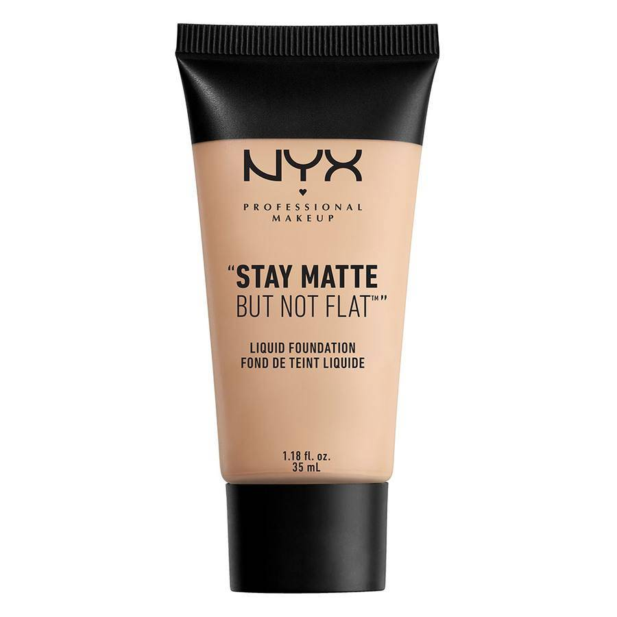 NYX PROFESSIONAL MAKEUP NYX Stay Matte But Not Flat Liquid Foundation 35ml – Porcelain SMF16