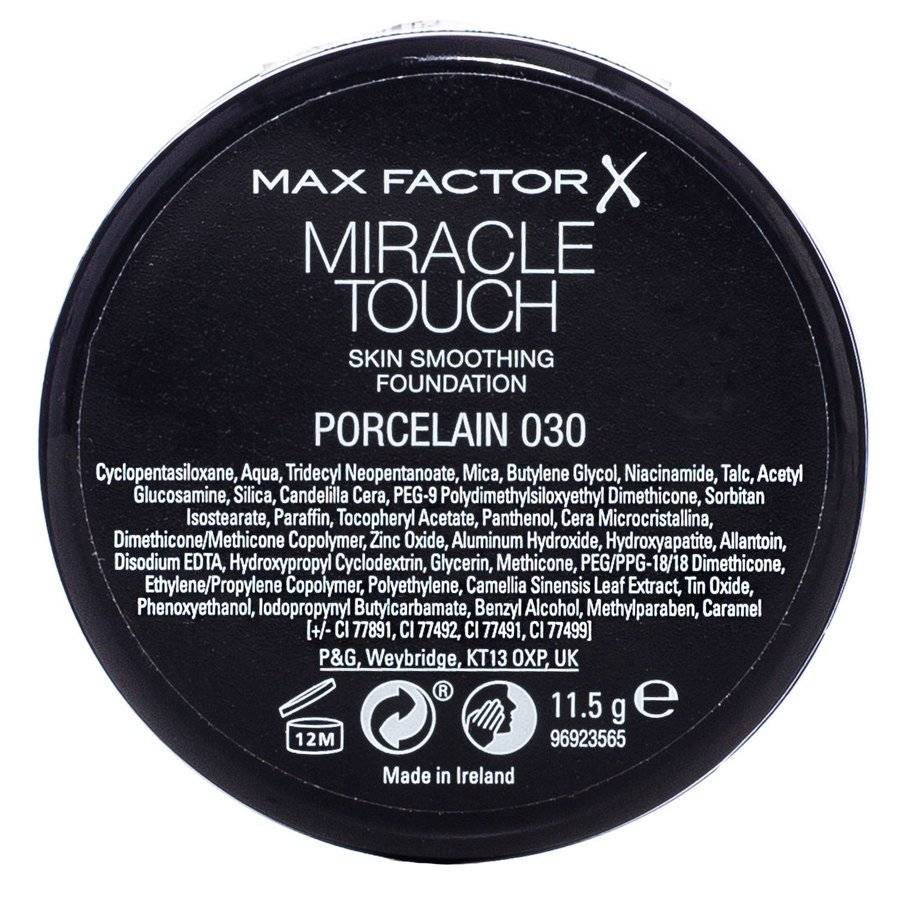 Max Factor Miracle Touch Foundation 30ml – Porcelain 030