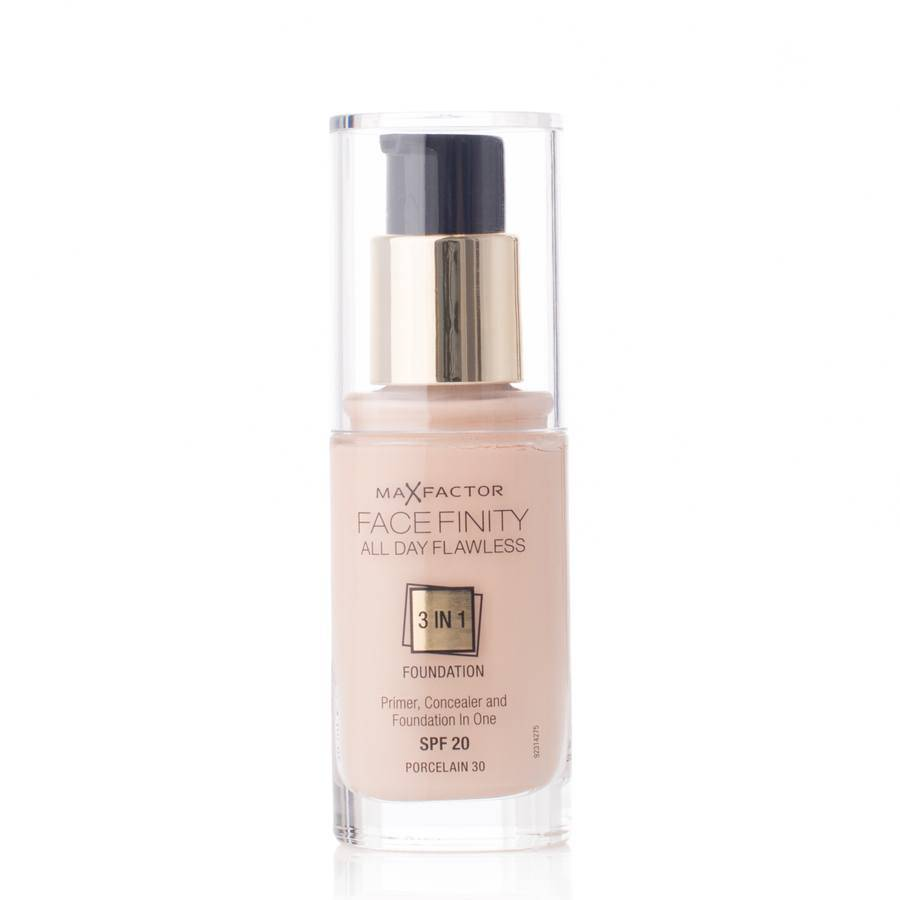 Max Factor Face Finity All Day Flawless 3 In 1 Foundation Spf 20 30ml - 30 Porcelain