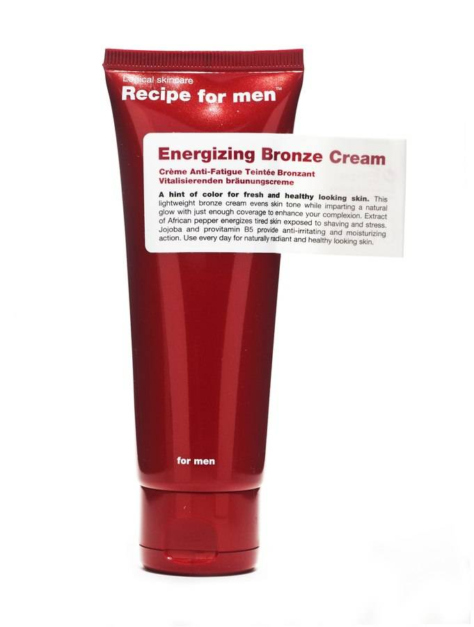 Recipe for Men Energizing Bronze Cream 75 ml