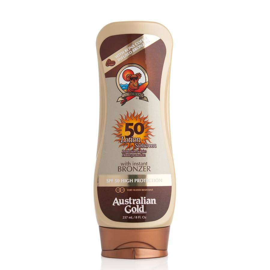 Australian Gold 50 Lotion Sunscreen With Instant Bronzer 237 ml