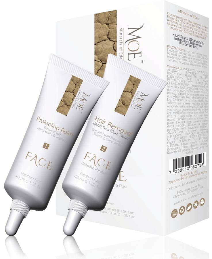 Minerals of Eden Women Face Duo Protecting Balm & Hair Removal Cream 2 x 40 ml