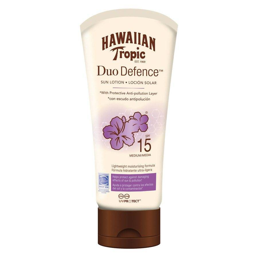 Hawaiian Tropic DuoDefence Sun Lotion SPF15 180 ml