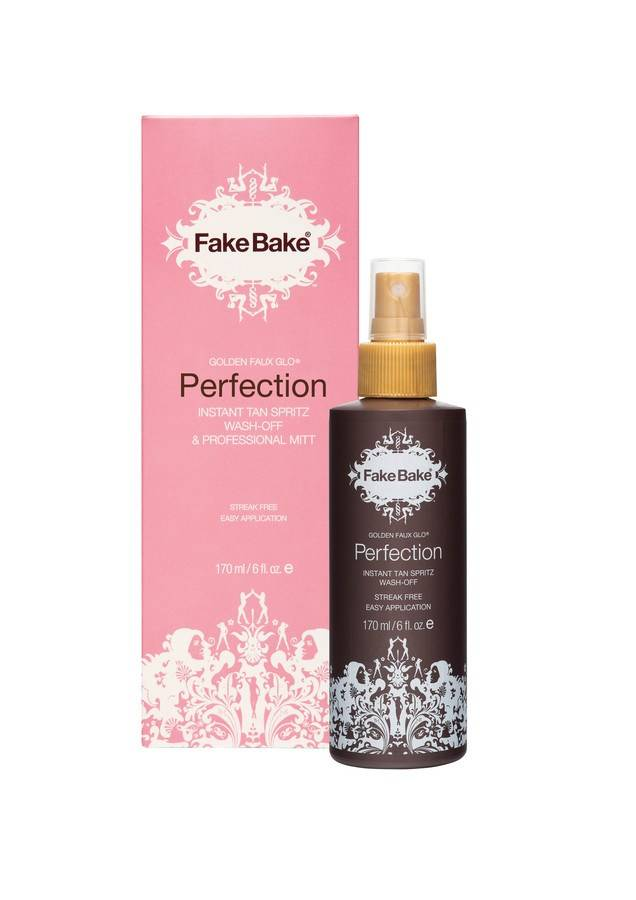 Fake Bake Perfection Instant Tan Spritz Wash-Off 170 ml & Professional Mitt
