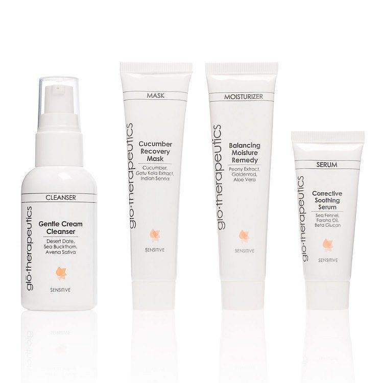 GloTherapautics glo therapeutics Skin Set Sensitive – 4 osaa