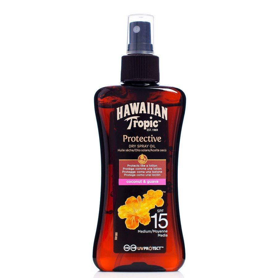 Hawaiian Tropic Protective Dry Spray Oil SPF 15 200 ml