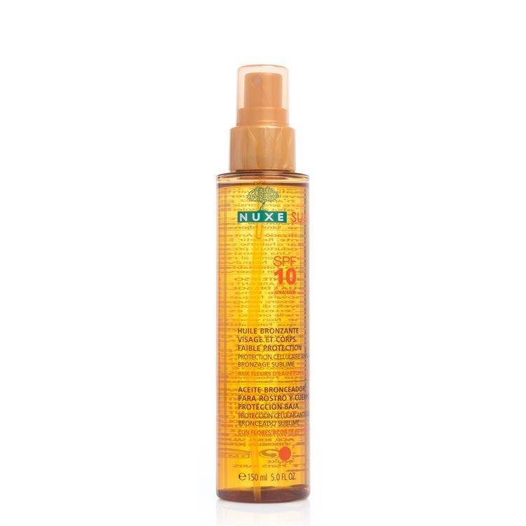 NUXE Tanning Oil Face And Body SPF 10 150 ml
