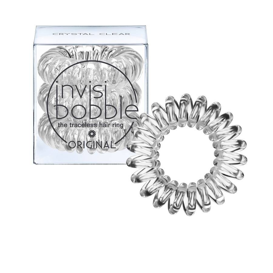 Invisibobble 3 Traceless Hair Rings - Crystal Clear