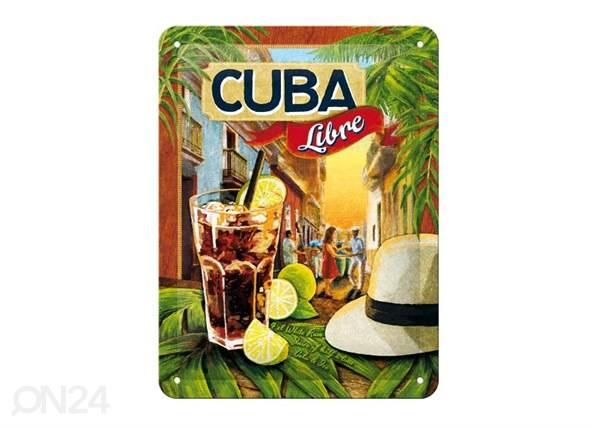 ART Retrotyylinen metallijuliste CUBA LIBRE 15x20 cm