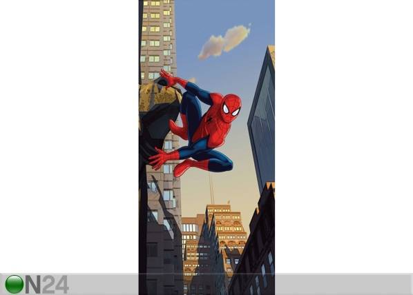 AG Design Fleece kuvatapetti SPIDERMAN AND THE CITY 90x202 cm