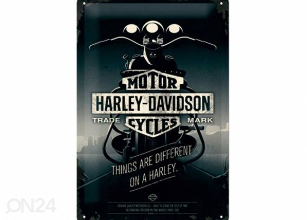 ART Retro metallijuliste HARLEY-DAVIDSON THINGS ARE DIFFERENT ON A HARLEY 20x30 cm