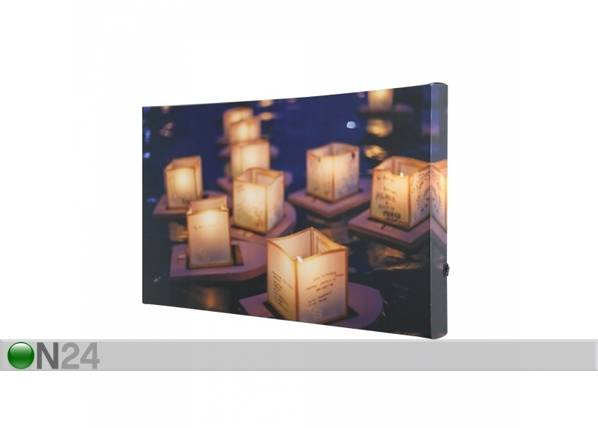 LED taulu TEALIGHT BOATS 50x30 cm