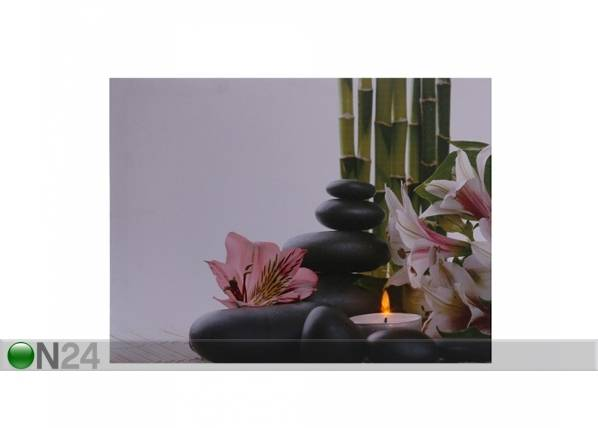 LED taulu FLOWERS & PEBBLES 30x40 cm