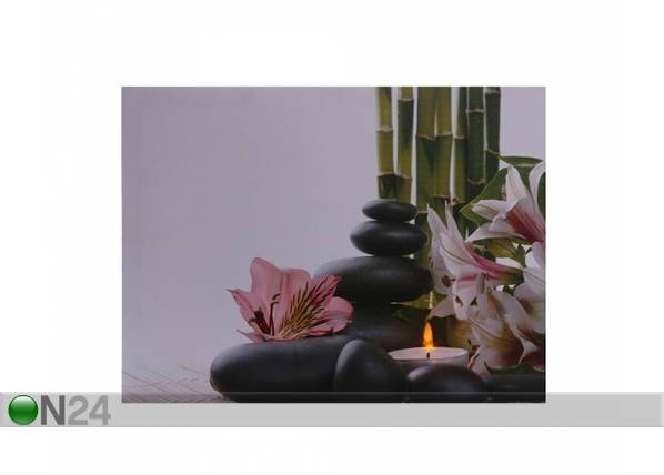LED taulu FLOWERS & PEBBLES 50x70 cm