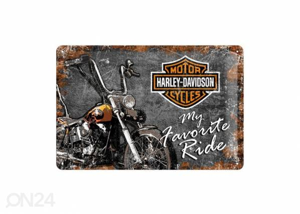 ART Retrotyylinen metallijuliste HARLEY-DAVIDSON MY FAVORITE RIDE 20x30 cm