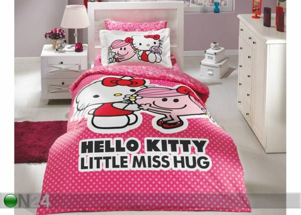HOBBY HOME COLLECTION Pussilakanasetti HELLO KITTY 160x220cm