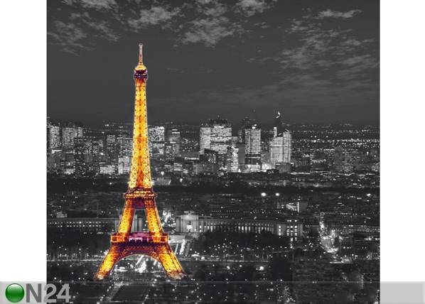 AG Design Puolipimentävä fotoverho PARIS BY NIGHT 280x245 cm