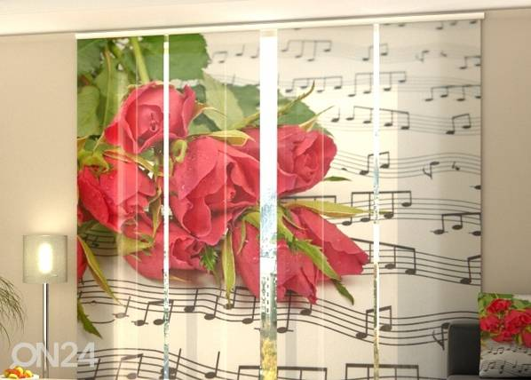 Wellmira Verho paneeliverho ROSES AND NOTES 240x240 cm