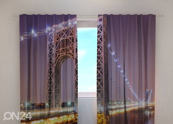 Wellmira Läpinäkyvä verho G.WASHINGTON BRIDGE 240x220 cm