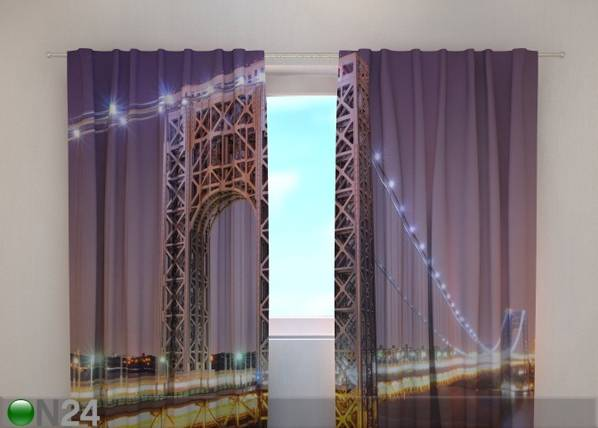 Wellmira Puolipimentävä verho G.WASHINGTON BRIDGE 220x240 cm