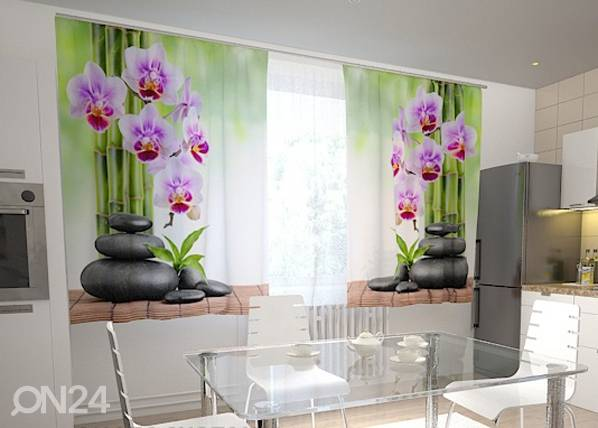 Wellmira Pimennysverho ORCHIDS AND STONES IN THE KITCHEN 200x120 cm