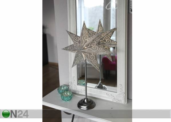 Star Trading Dekoratiivivalaisin ANTIGUE STAR 55 cm