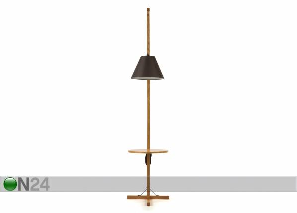 Woodman Lattiavalaisin FLOOR LAMP TABLE+DARK SHADE