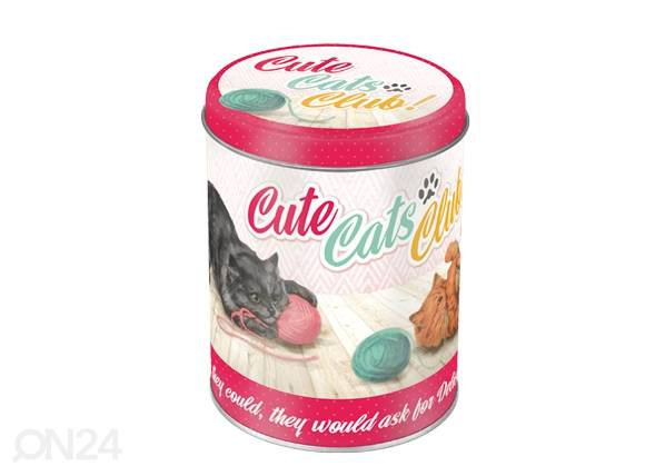 Peltipurkki CUTE CATS CLUB 1 L