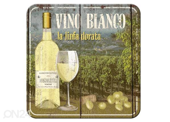 ART Retro lasinalusta VINO BIANCO 4 kpl