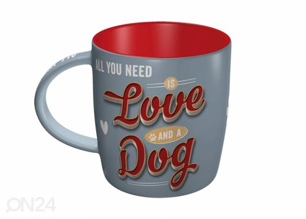 ART Muki ALL YOU NEED IS LOVE AND A DOG