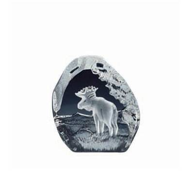 Nybro Crystal Sculptures Hirvi 80x75mm