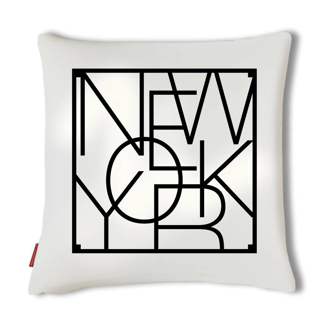 Men at Work City Cushion Tyynynpäällinen, New York