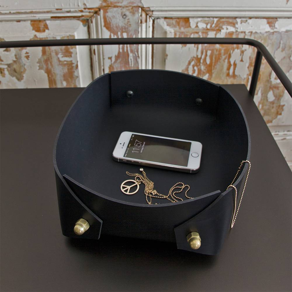Caroline Ek Coco Big Box Black, Brass