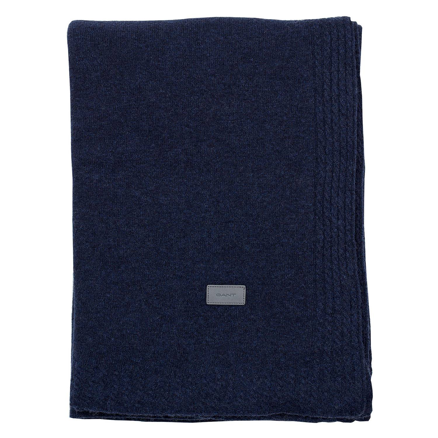 Gant Home Light Cable Knit Huopa 130x180cm, Yankee Blue