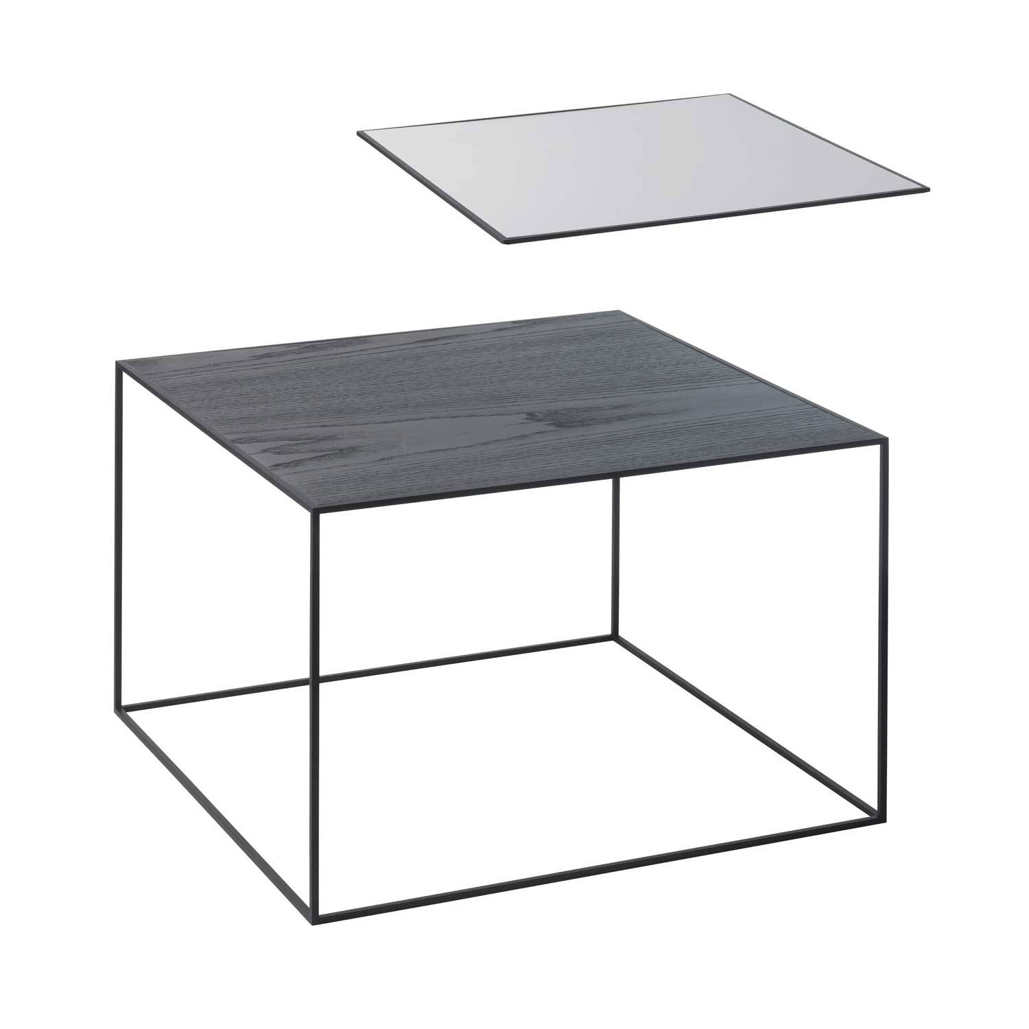 by Lassen Twin Table 49 Sivupöytä, Musta/Cool Grey