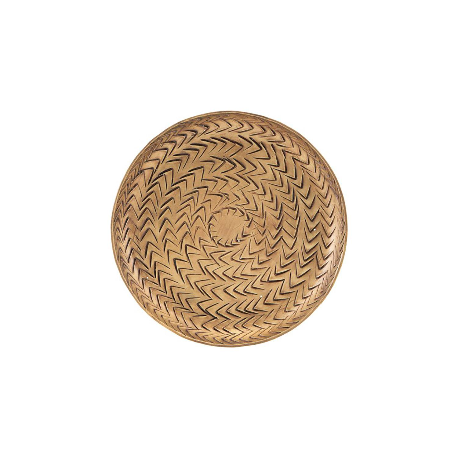 House Doctor Rattan Tray S, Brass