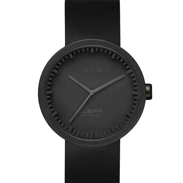 LEFF amsterdam Leff Tube Watch D42, Musta