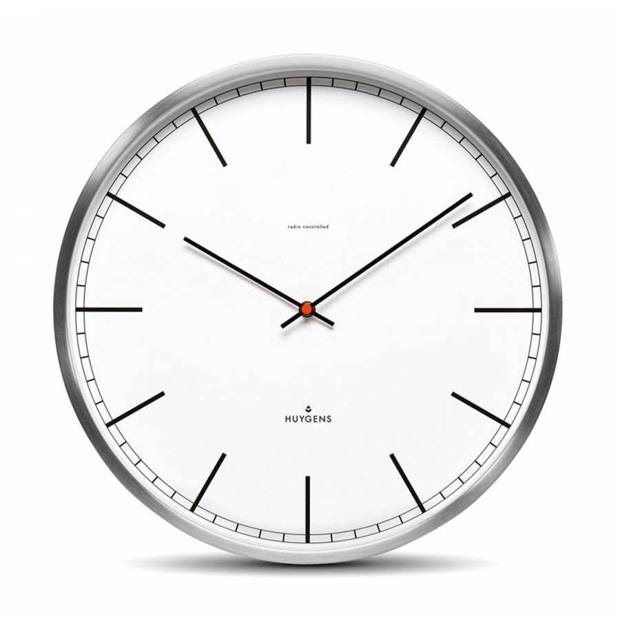 LEFF amsterdam Huygens One Wall Clock 35 cm, Steel/White Index