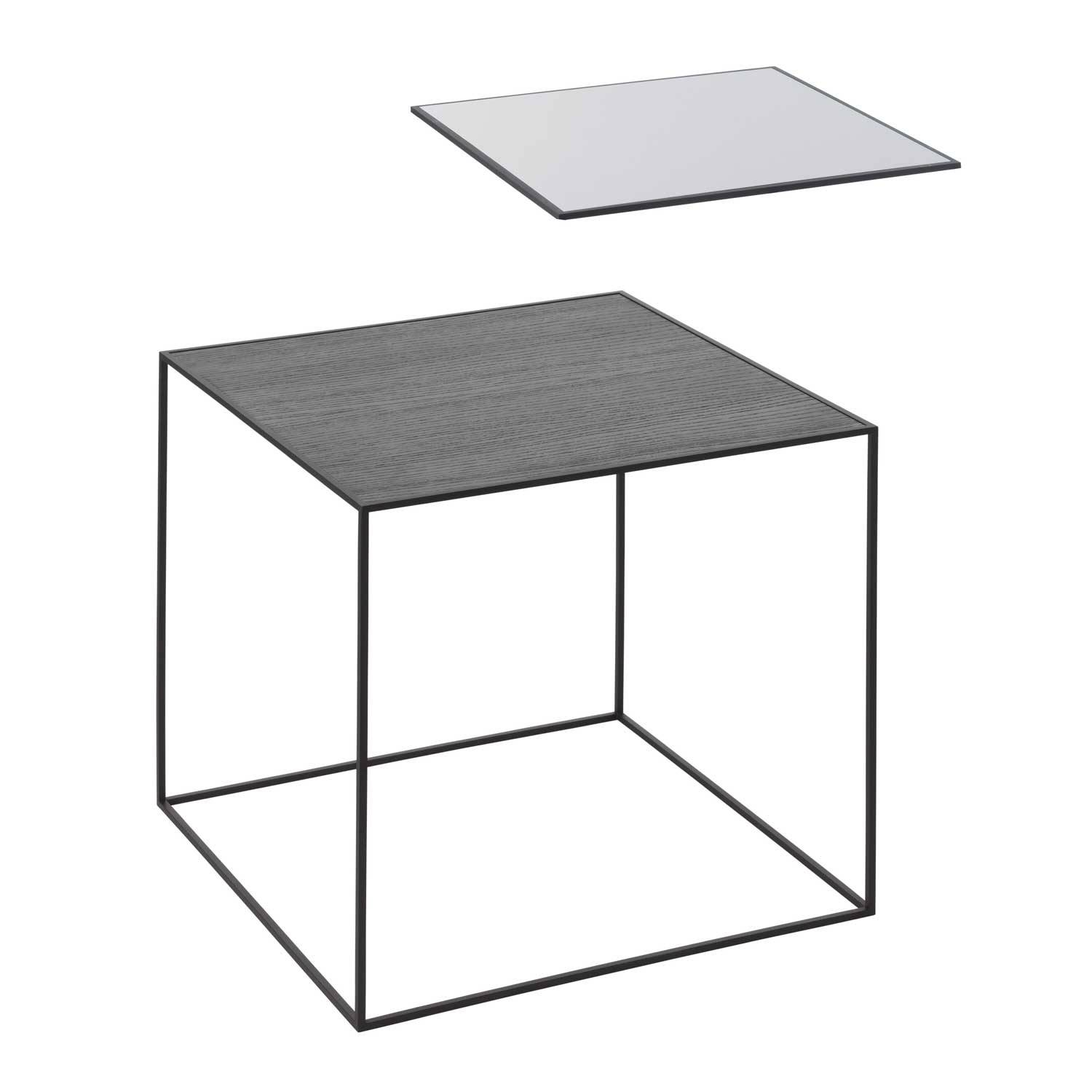 by Lassen Twin Table 42 Sivupöytä, Musta/Cool Grey