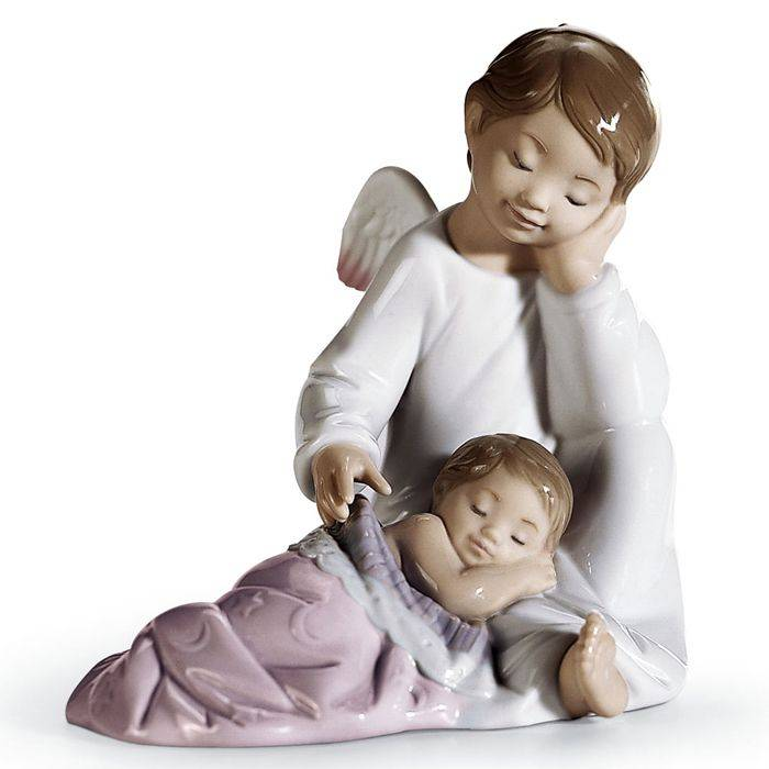 Lladro My guardian angel (pink)