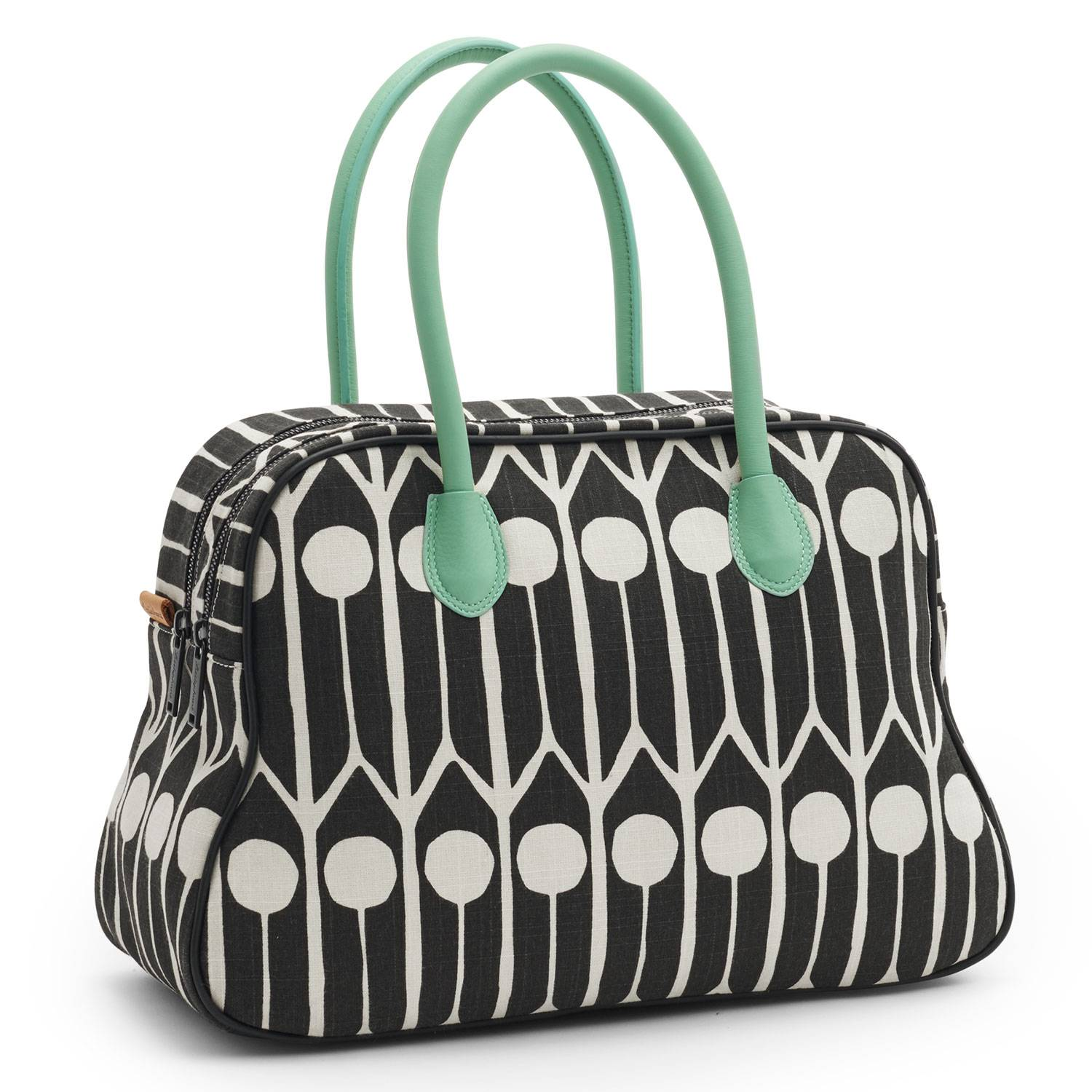 Littlephant Feathers Small Day Bag, Musta/White