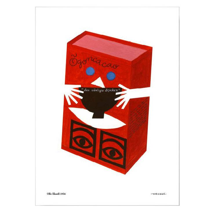 Olle Eksell Ögon Cacao Red Box Juliste 50x70cm