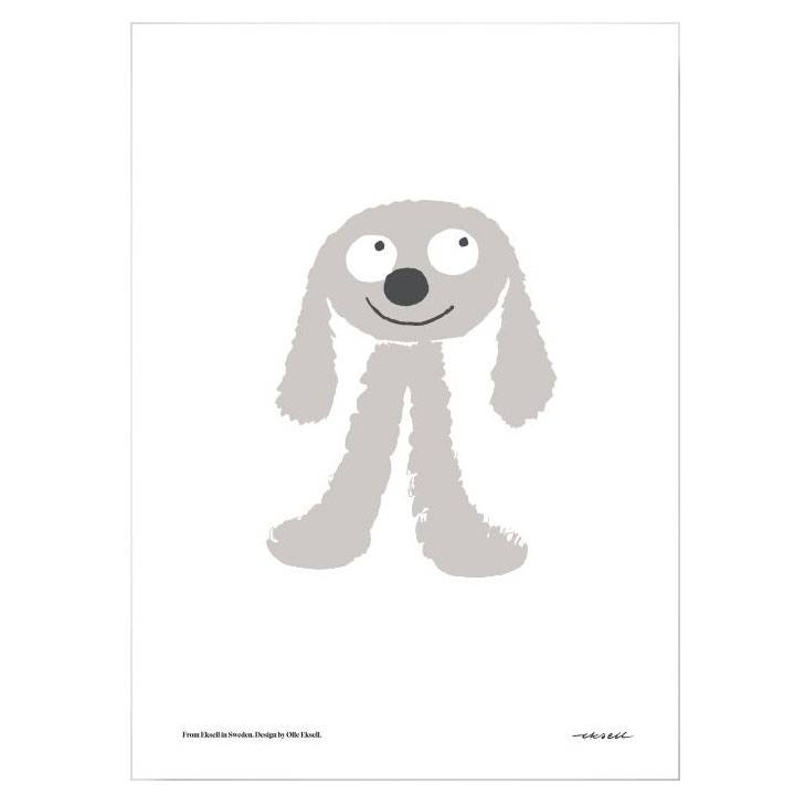 Olle Eksell The Grey Dog Juliste 50x70cm