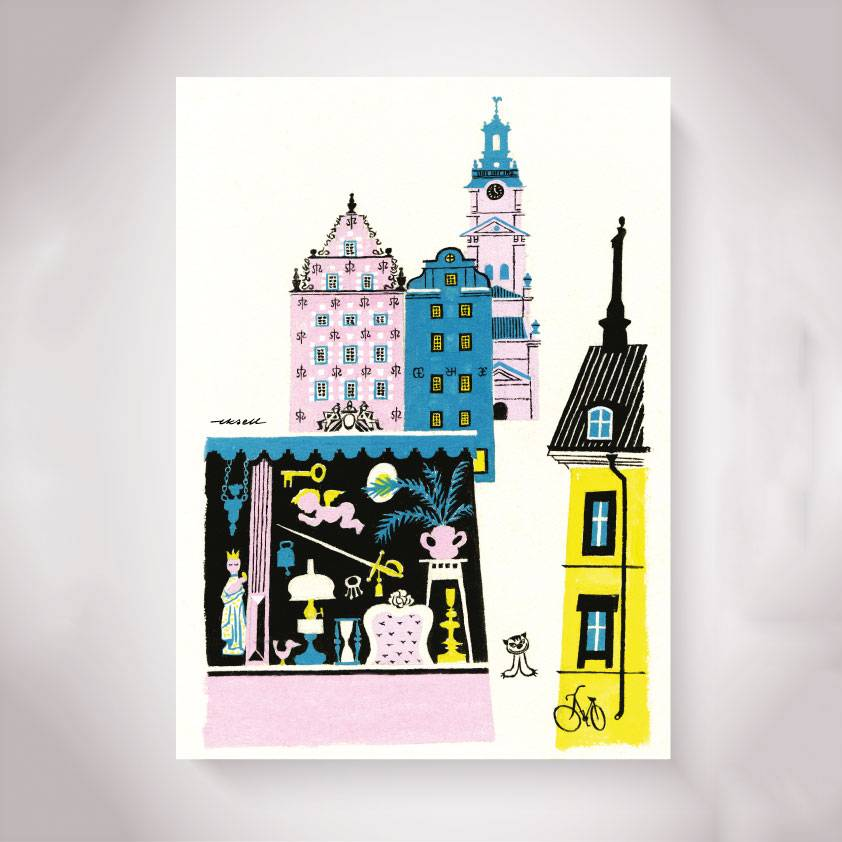Olle Eksell Old Town (Gamla Stan) Juliste 50x70cm