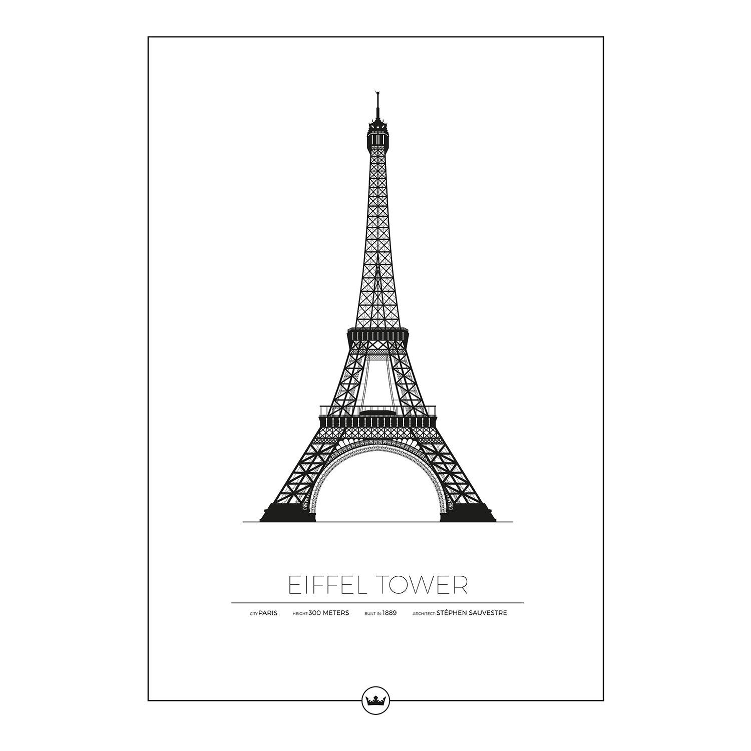 Sverigemotiv The Eiffel Tower Paris Poster 50x70cm