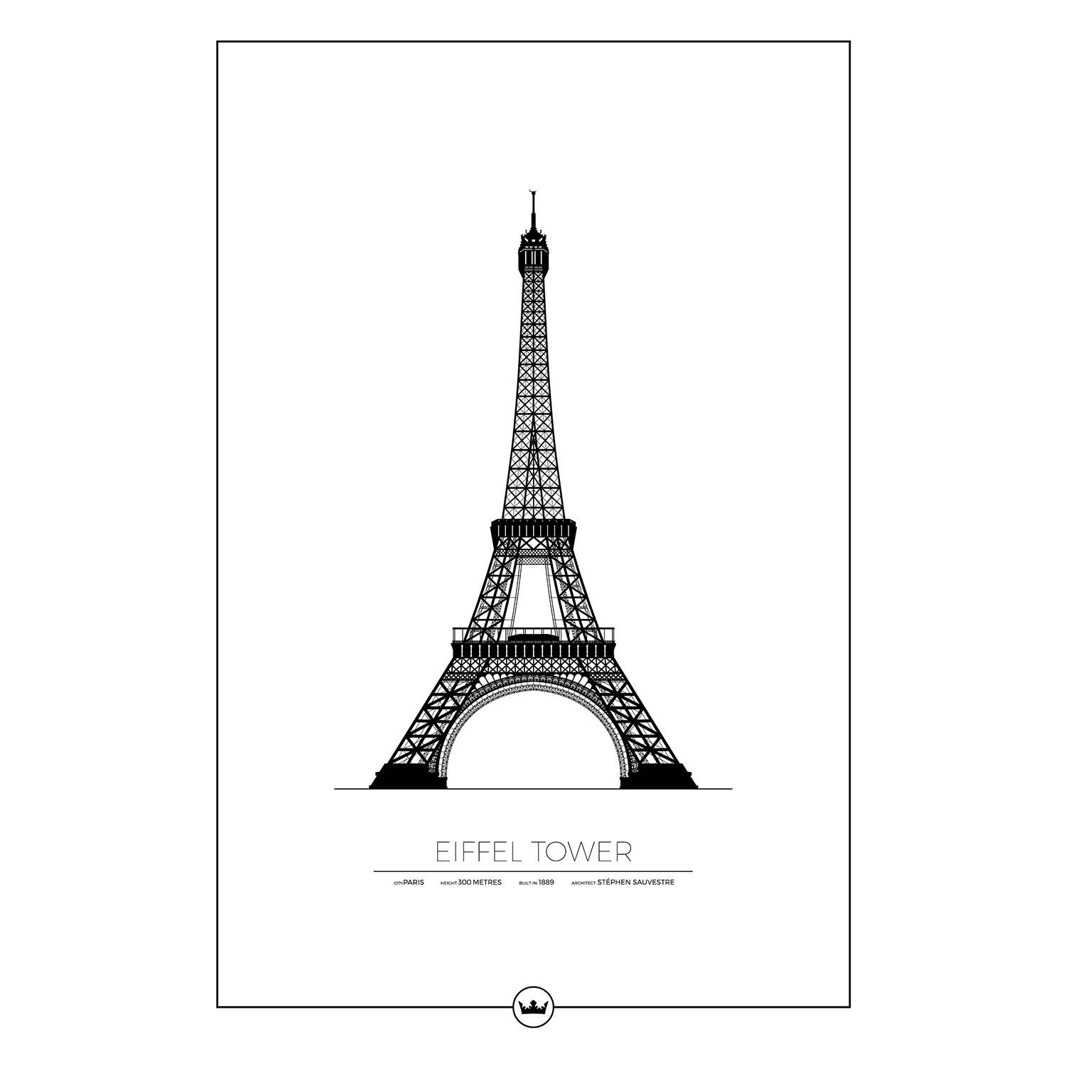 Sverigemotiv The Eiffel Tower Paris Poster 61x91cm
