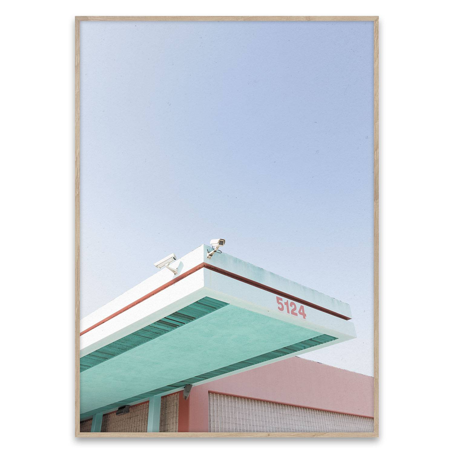 Paper Collective Los Angeles is Pink Poster 40x30