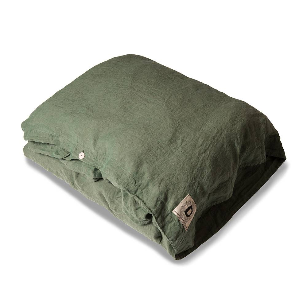 Dirty Linen Animeaux Pussilakana 150x210cm, Jaded Green