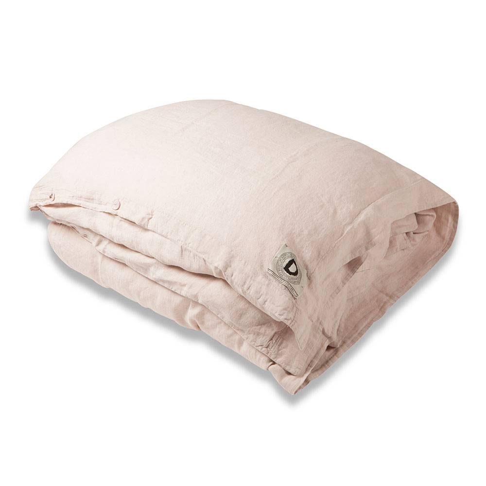 Dirty Linen Animeaux Pussilakana 220x220 cm, Pink Blush