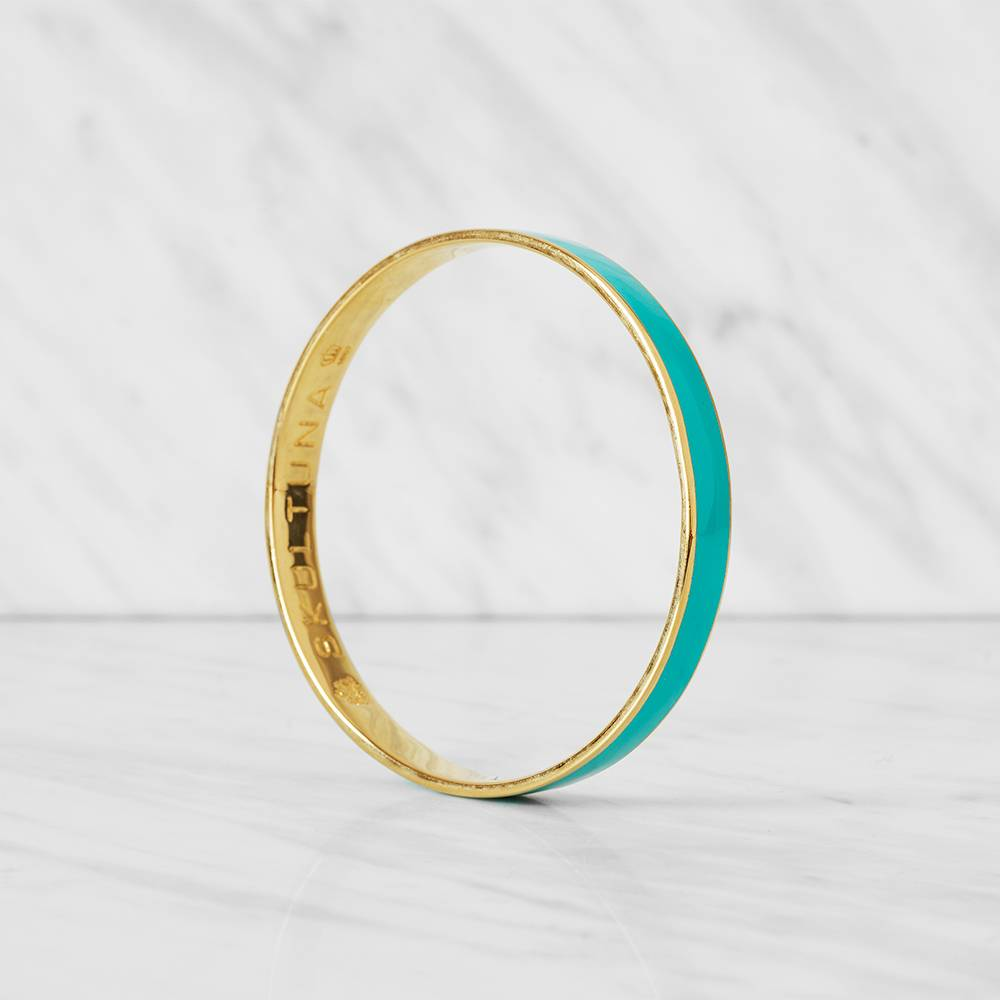 Skultuna Thin Bangle Rannekoru M, Turkoosi